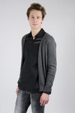 Ryujee Pao pulovr šedý