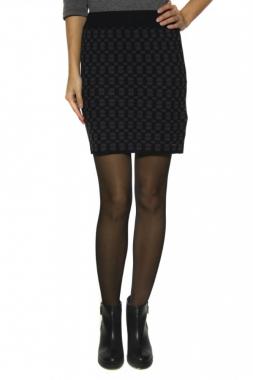POTO krátká sukně černá se vzorem