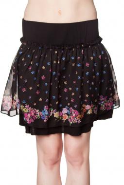 Mamatayoe Paventia sukně černá se vzorem