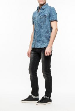 Ryujee RYC 2048 džínová košile modrá