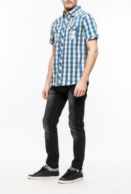 Ryujee RYC 2086 džínová košile modrá