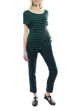 Mismash ASHLY tričko zelené s proužkem