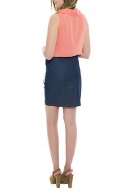 Smash LENAR dámská krátká sukně v modré barvě se vzorem