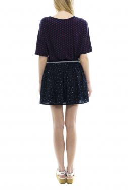 Mismash DOOM krátká sukně modrá se vzorem