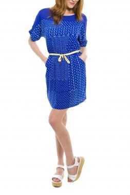 Paramita FABRINA dámské krátké šaty modré se vzorem
