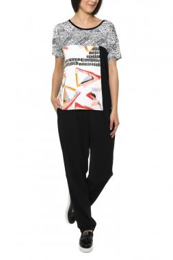 Smash VERDUM dámské tričko černé se vzorem