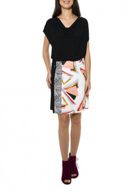 Smash ULUR sukně černá se vzorem