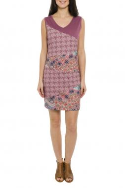 Smash CAMANA pouzdrové šaty růžové bez rukávu