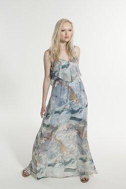 Smash MARY Dámské dlouhé šaty modré