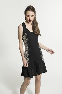 Smash MANGA Dámské krátké šaty bez rukávu černé