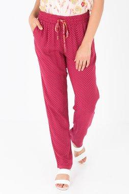 Smash RILEY Dámské kalhoty tmavě červené