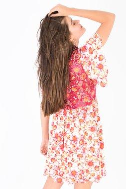 Smash SABRINA Dámské šaty béžové se vzorem
