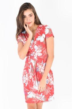 Smash OKAINA Dámské šaty červené  (S1983461)