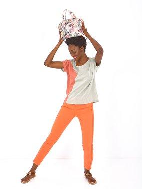 Smash KNELL Dámská kabelka oranžová se vzorem jedna velikost