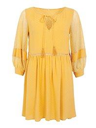 Smash PORTIS Dámské šaty žluté