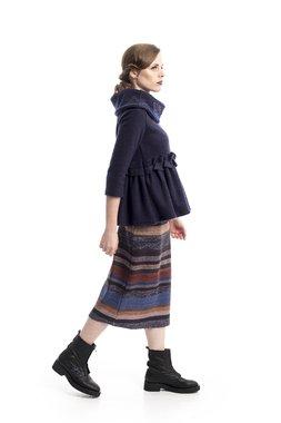 Mamatayoe Serpentina Dámský kabátek modrý