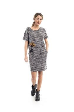 Mamatayoe Sovana Dámské šaty šedé