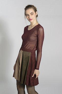 Smash CEBU Dámská sukně tmavě červená