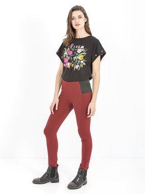 Smash AZORES Dámské kalhoty tmavě červené