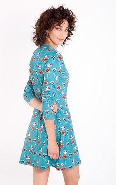 Smash IVANKA Dámské šaty tyrkysově modré