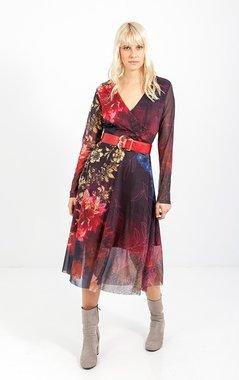 Smash MORGAN Dámské šaty tmavě červené