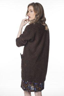 Mamatayoe Bouclette kabát hnědý melír