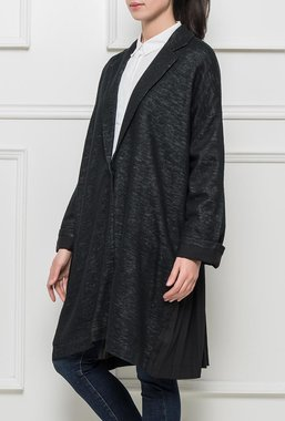 Ryujee CELIA oversize sako, kabátek tmavě modrý