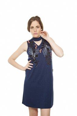 Mamatayoe CICCHELLA krátké šaty bez rukávu modré
