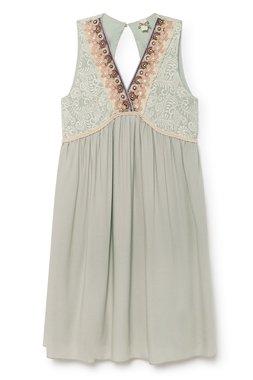 Nekane CORAL.CL Cocoon Dámské šaty zelené