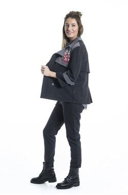 Mamatayoe Dorsett Dámská bunda tmavě šedá