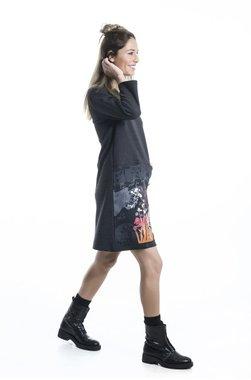 Mamatayoe Duron Dámské šaty tmavě šedá