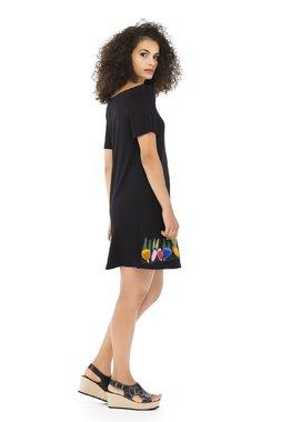 Mamatayoe LUNARIA Dámské šaty  ONE COLOUR mix barev barev