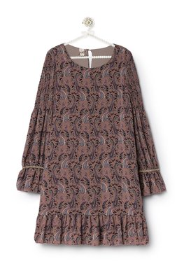 Nekane MARGOT.CA Prune 196 Dámské šaty fialové se vzorem