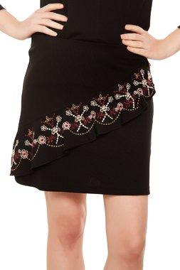 Mamatayoe PALLAZZINA krátká sukně černá s výšivkou