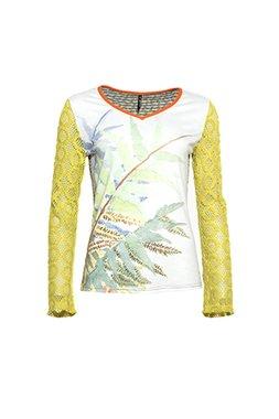 Smash AIDEA Dámské tričko zelené se vzorem
