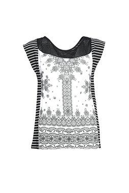 Smash PIRITA Dámské tričko černo-bílé se vzorem