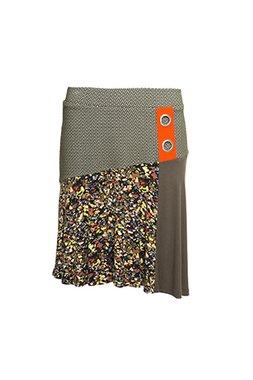 Smash MERA Dámská krátká sukně tmavě zelená se vzorem