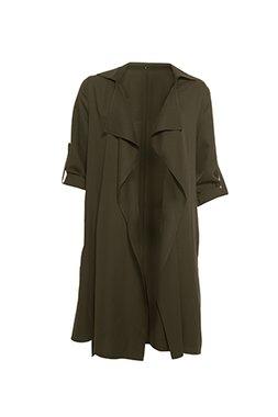 Smash NUVOL Dámský kabát tmavě zelený