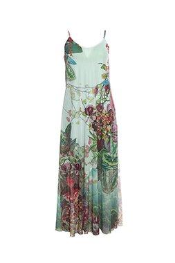 Smash LINARIA Dámské dlouhé šaty zelené
