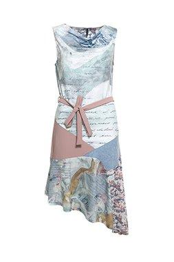 Smash LIDIA Dámské krátké šaty modré se vzorem