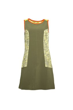 Smash MAYARA Dámské krátké šaty bez rukávů tmavě zelené
