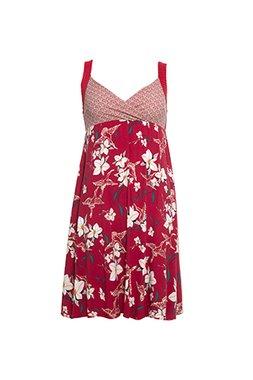 Smash MINNIE Dámské krátké šaty červené s květinovým vzorem
