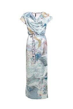 Smash PAULA Dámské dlouhé šaty modré
