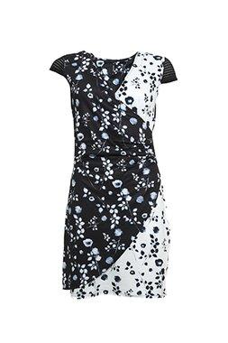 Smash AVELINA Dámské šaty černé se vzorem