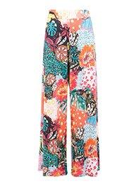 Smash LITSA Dámské kalhoty růžové se vzorem