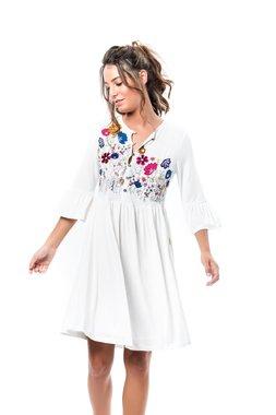 Mamatayoe Simún Dámské krátké šaty bílé - lola