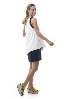 Mamatayoe Skópelos Dámské šaty bílé se vzorem