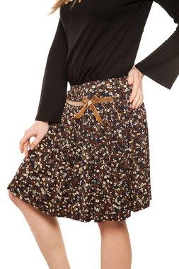 Mamatayoe SORANZO krátká sukně černá s květinovým vzorem