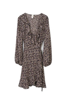 Nekane TEODORA.CF Dámské šaty černé se vzorem