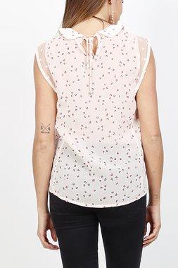 Ryujee TOUAR Dámský top růžový se vzorem